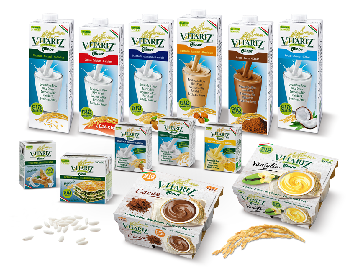 Vitariz rice almond milk products